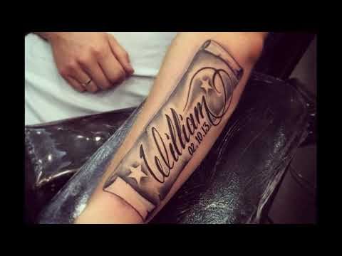 Applying Name Tattoo Designs on the Body