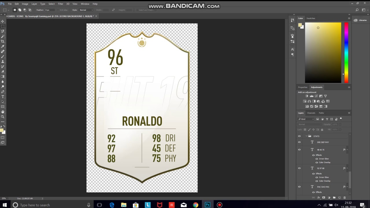 Fifa 19 Official Cards Template Icons Card Pack Youtube