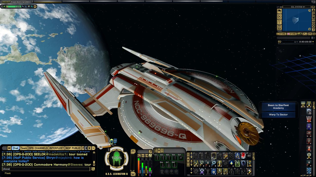 Star Trek Online 75k Light Exploration Cruiser T6 Walker Class 014 Minutes Youtube