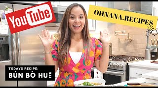 Ohnana Bun Bo Hue Recipe - Vietnamese Spicy Beef Noodle