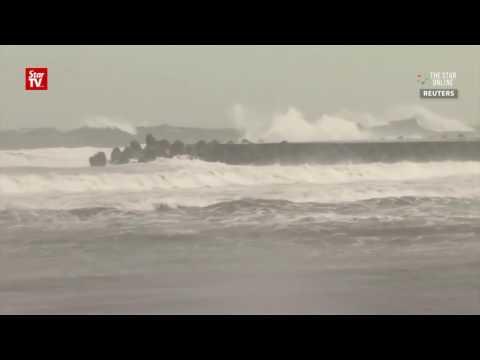Typhoon Megi hits Taiwan