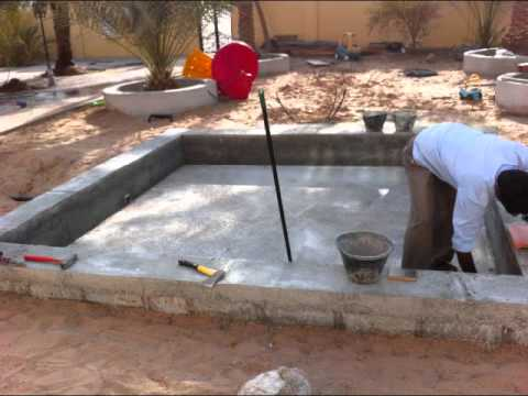 How to build mini swimming pool youtube - Cinder block swimming pool construction ...