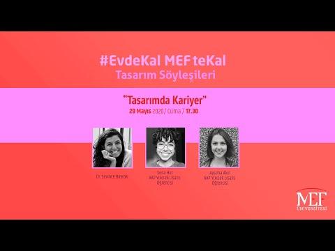 """EvdeKal MEFteKal Tasarım Söyleşileri - 6 """"Tasarımda Kariyer"""""""