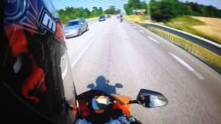 KTM RC8 crash