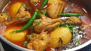 Agar Aap Ke Salan Me Bhi Piyaz Tairti Hai To Iss tarah Banayein Perfect Chicken Aloo Curry
