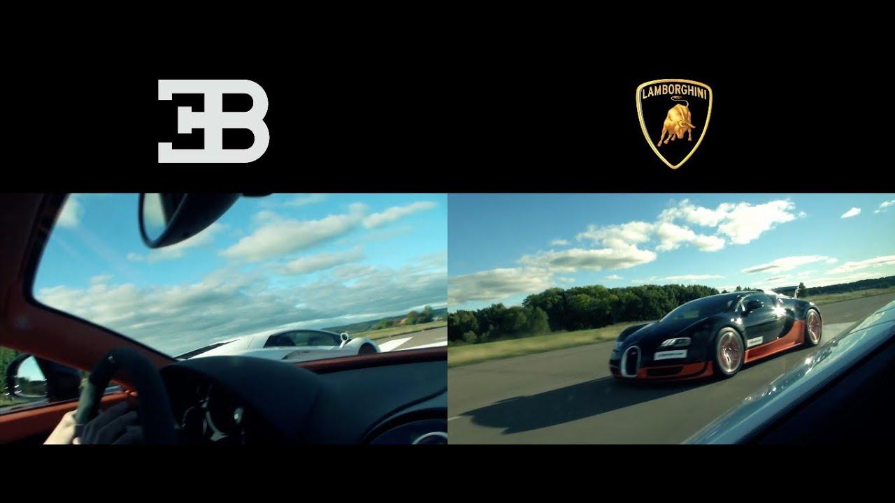 Ultra HD 4K Drag RACE Lamborghini Aventador LP700-4 vs Bugatti ...