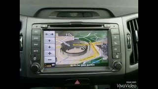 Kia Sportage monitor dedicato 2din+ intrattenimento posteriore 2 monitor poggiatesta