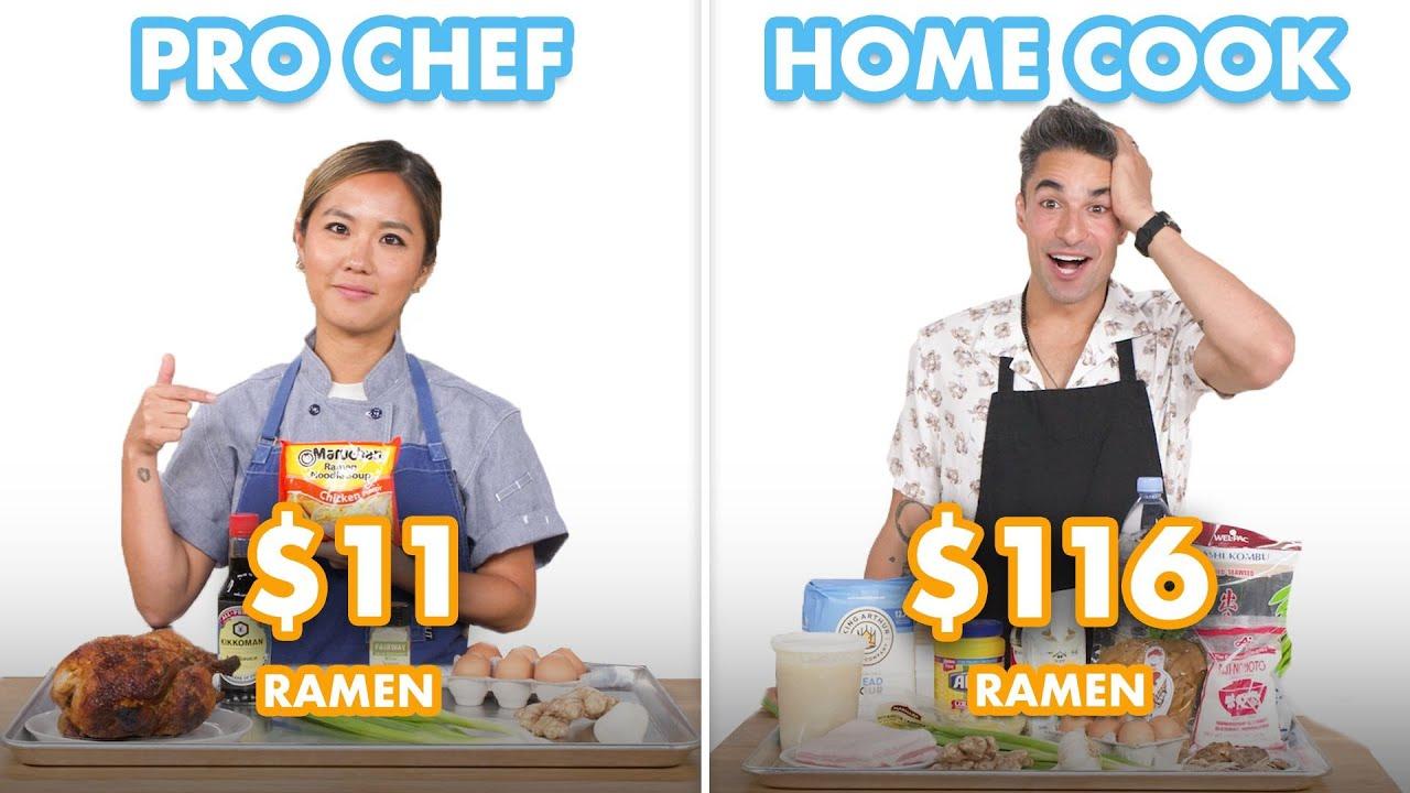 Download $116 vs $11 Ramen: Pro Chef & Home Cook Swap Ingredients | Epicurious