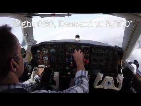 Beechcraft Baron Flying FXE Departure IFR Descent along Coastline into SGJ