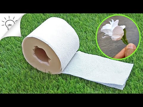 3 Ways to Make Flowers with Toilet Paper - Easy Craft