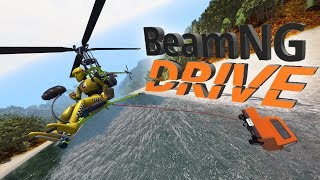 BeamNG.drive - Mini Helicopter MADNESS! - DH Super Gnat - BeamNG Drive Gameplay Highlights