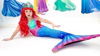 Stacy muda de vestido para se tornar princesa