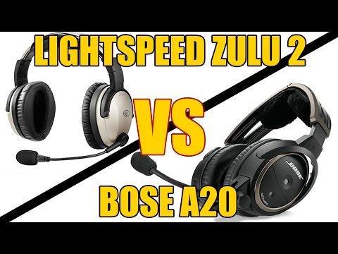 Lightspeed Zulu2 vs. Bose A20 - Aviation Headset Review (Comparable to Zulu3)