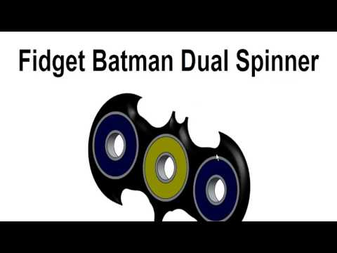 How to Make Fidget Batman Dual Spinner