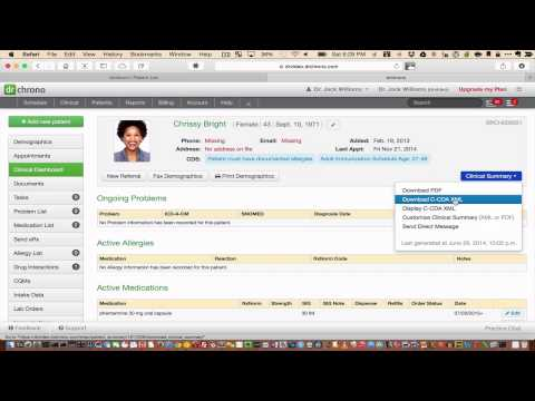 Tutorial: Exporting/Importing Data from an EHR Software Using CCDA