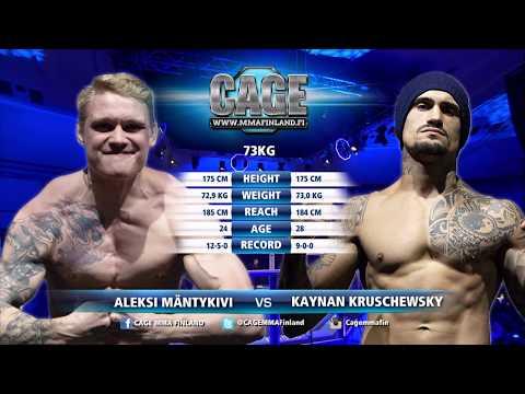 CAGE47 Aleksi Mäntykivi vs Kaynan Kruschewsky Full Fight MMA