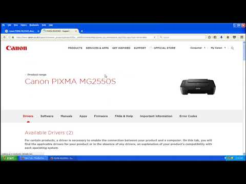 Canon Pixma MG2550, Printer Driver Download