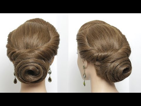 Simple Bridal Hairstyle Tutorial Prom Updo