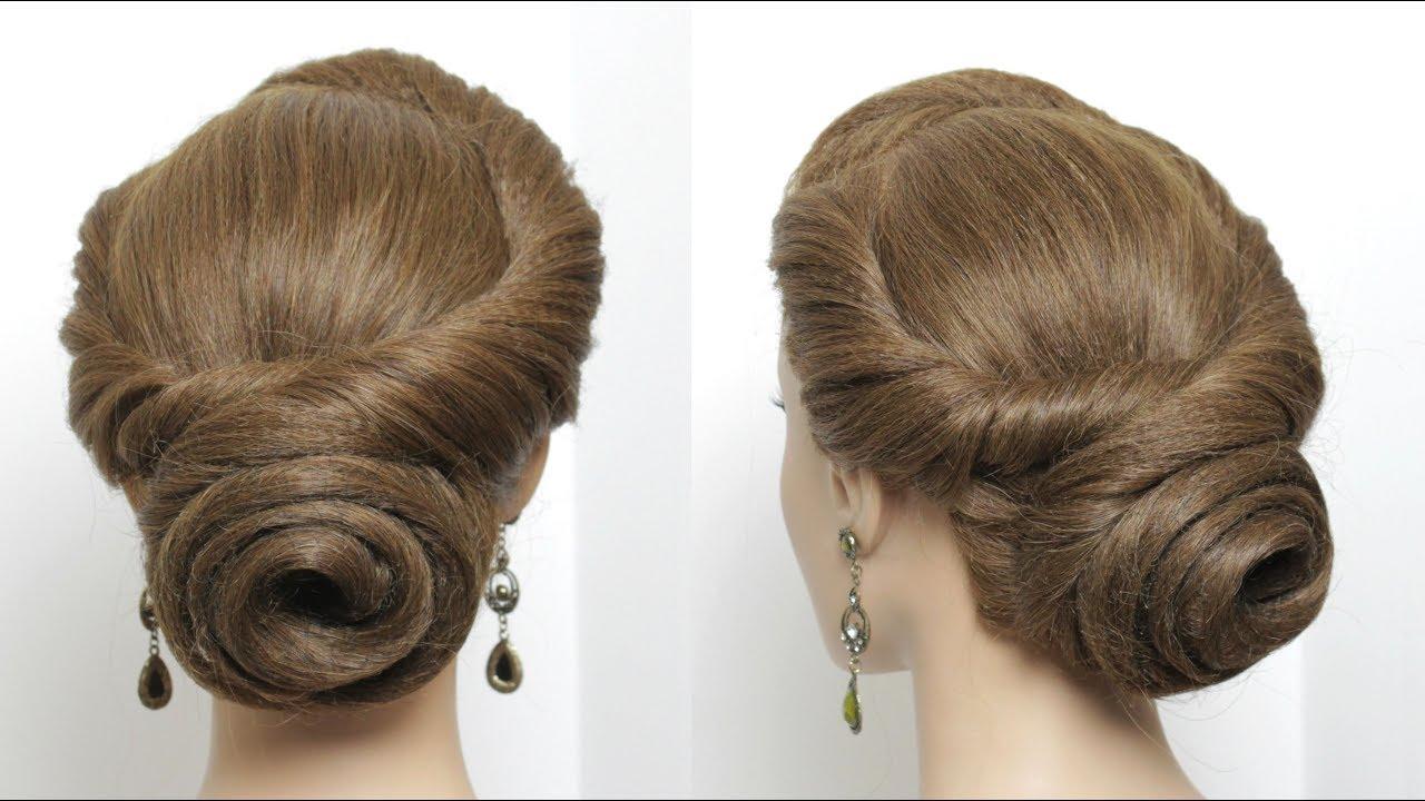 Hairstyles Juda: New Juda Hairstyle. Rose Bun For Medium Hair