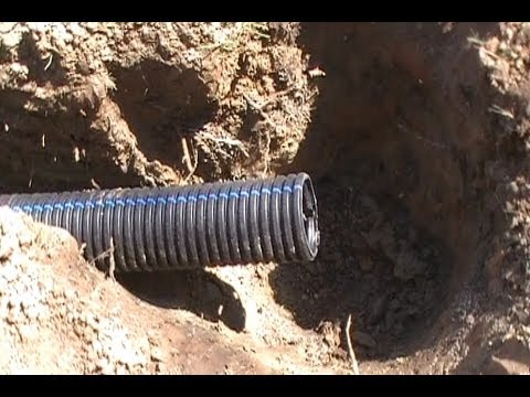 How To Install French Drain To Dry Well Discharge Youtube