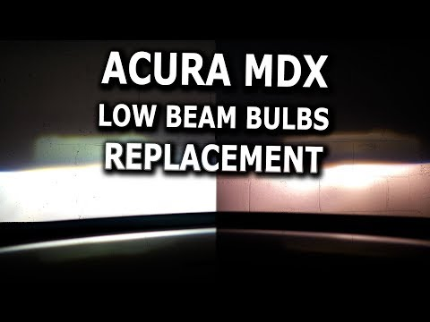 Acura MDX Low Beam Bulbs replacement DIY