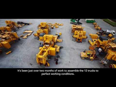 Building TWELVE Huge Komatsu 830e Dump Trucks