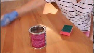 Обработка деревянной столешницы маслом Biofa. Видео-урок.