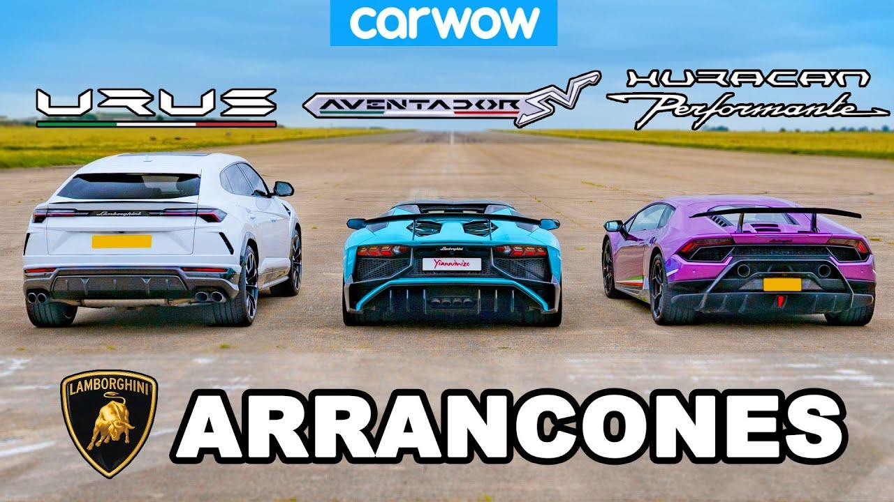 Lamborghini ARRANCONES : Urus v Aventador v Hurracan