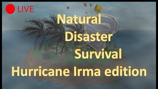 Tracking Hurricane Irma! ROBLOX Natural Disaster Survival!