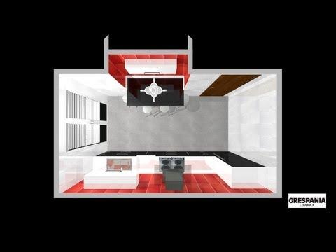 Cocina moderna rectangular youtube for Cocinas modernas youtube