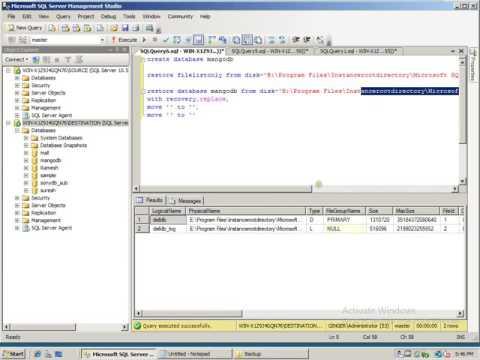 DB Refreshment in ms sql server