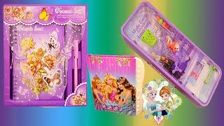 Disney Princess Game Pencil Box with Password Lock and Barbie Password Lock Diary for Girls
