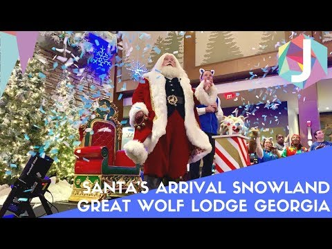 Santa's Arrival For Snowland At Great Wolf Lodge LaGrange Georgia