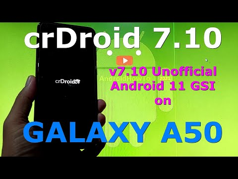 crDroid 7.10 Unofficial on Samsung Galaxy A50 Android 11 GSI ROM