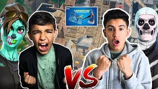 Hilarious Fortnite NEW Playground Mode 1v1 Against 10 Year Old Little Brother!