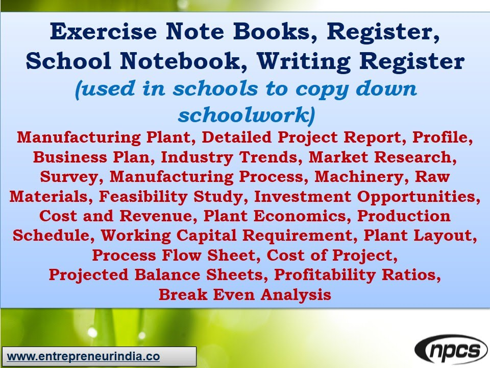 Exercise Note Books, School Notebook, Writing Register