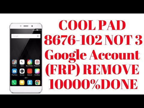 How To Bypass Google Verification On Coolpad 3632a