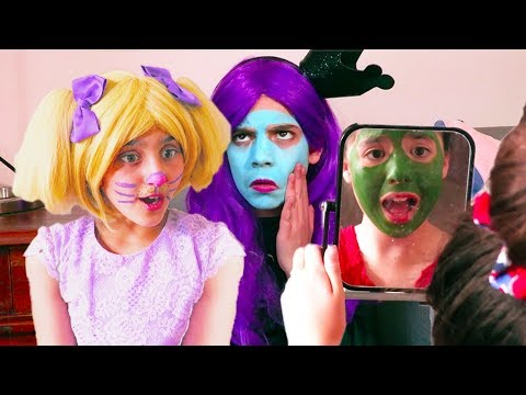 Face Painting Fun 🖌Princesses In Real Life | Kiddyzuzaa