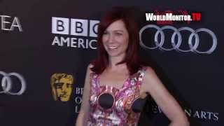 Carrie Preston, Joan Collins, Ashley Madekwe BAFTA LA TV Tea pre Emmy 2013 Arrivals