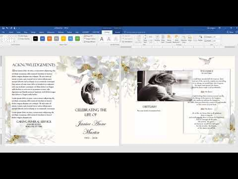 Funeral Template Tutorial MS Word 2016