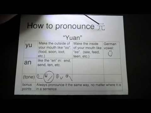 "How to pronounce ""Yuan"""
