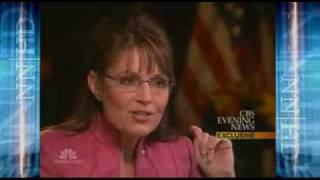 Sarah Palin Discusses Russia With Katie Couric