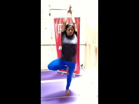 vrikshasana tree pose yoga  iyengar yoga in lucknow