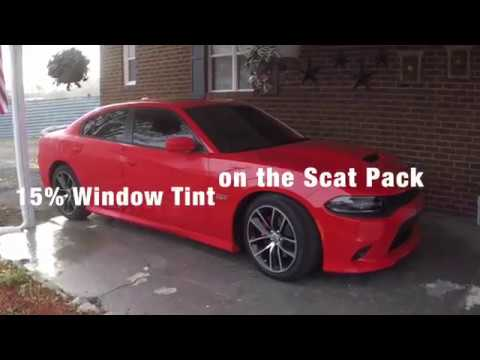 15 window tint on 2017 dodge charger scat pack youtube for 15 window tint pictures