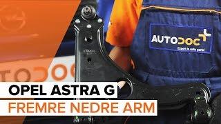 Hvordan bytte Opphengsarmer OPEL ASTRA G Hatchback (F48_, F08_) - online gratis video