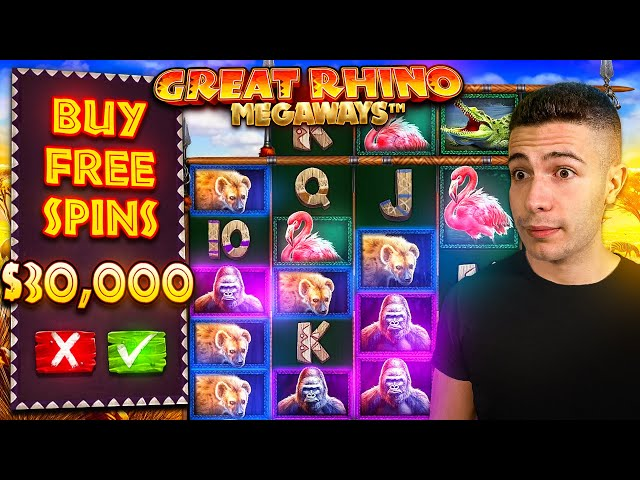 $30,000 Bonus Buy on Great Rhino Megaways 🦏 (30K Bonus Buy Series #17)