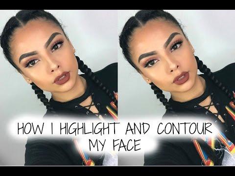 How I Hightlight & Contour My Face | Andrea Roman