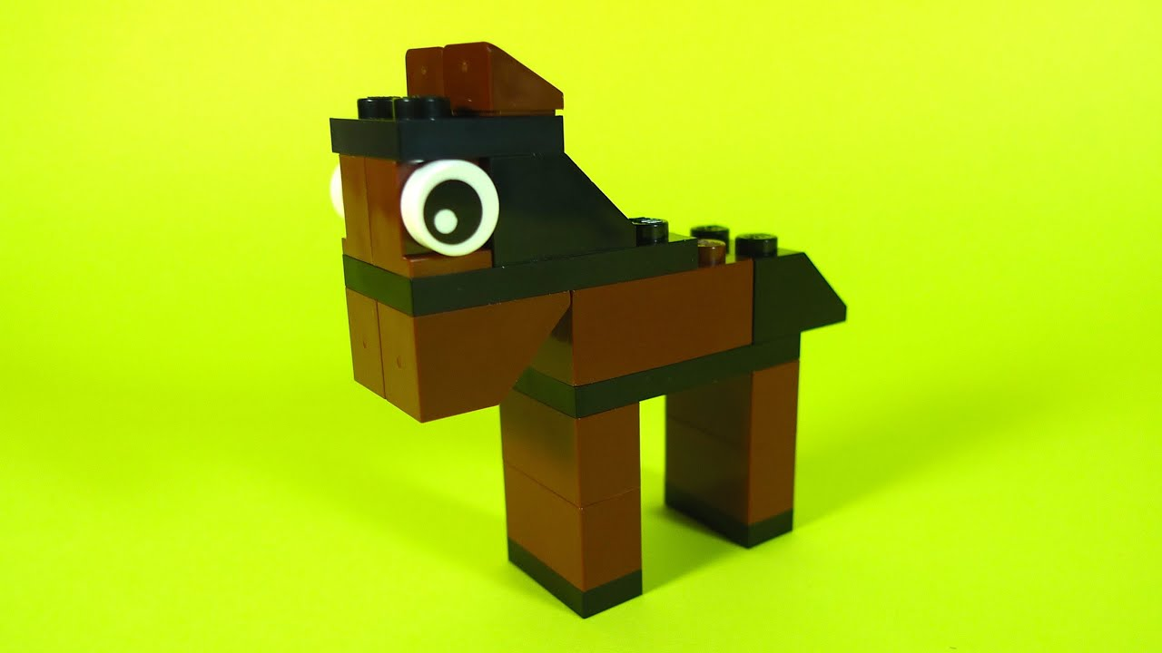 How to build lego horse 10662 lego creative bucket for Cool things made out of horseshoes