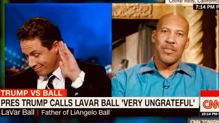 Totally Bizarre & Irrational - WHY NOT THANK TRUMP? UCLA Player Father LaVar Ball VS CNN Cuomo
