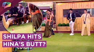 shilpa shinde hits hina khan s butt   hiten tejwani wants to marry arshi   bb 11   colors tv